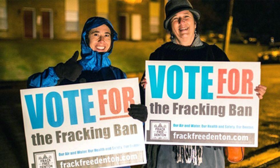 Industry Responds to Denton, Texas Fracking Ban