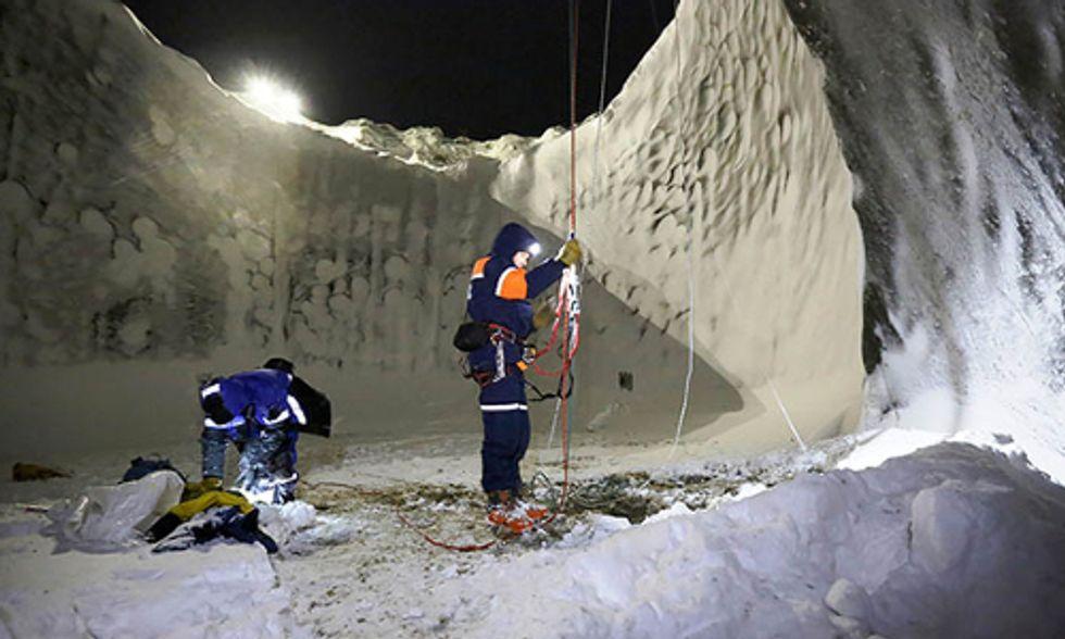 Extraordinary Photos From Inside the Siberian Methane Blowhole