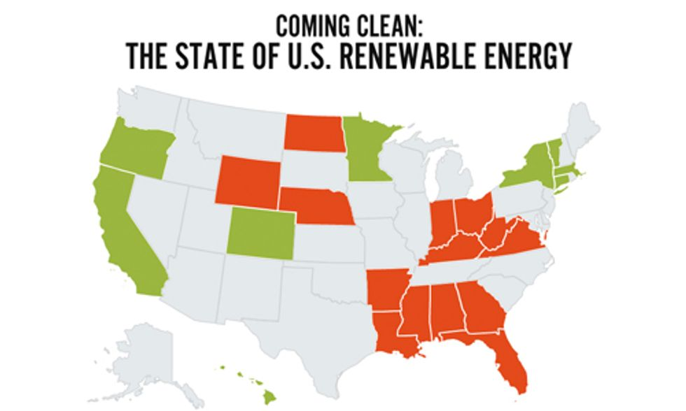 Interactive Map: Find Out How Your State Ranks on Renewable Energy