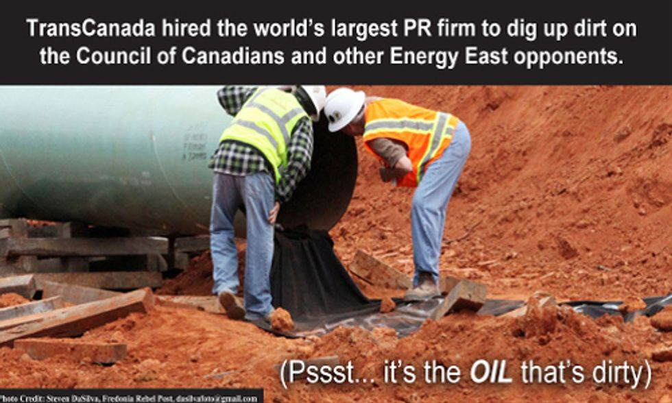 TransCanada Plots Dirty PR Campaign to Push New Pipeline