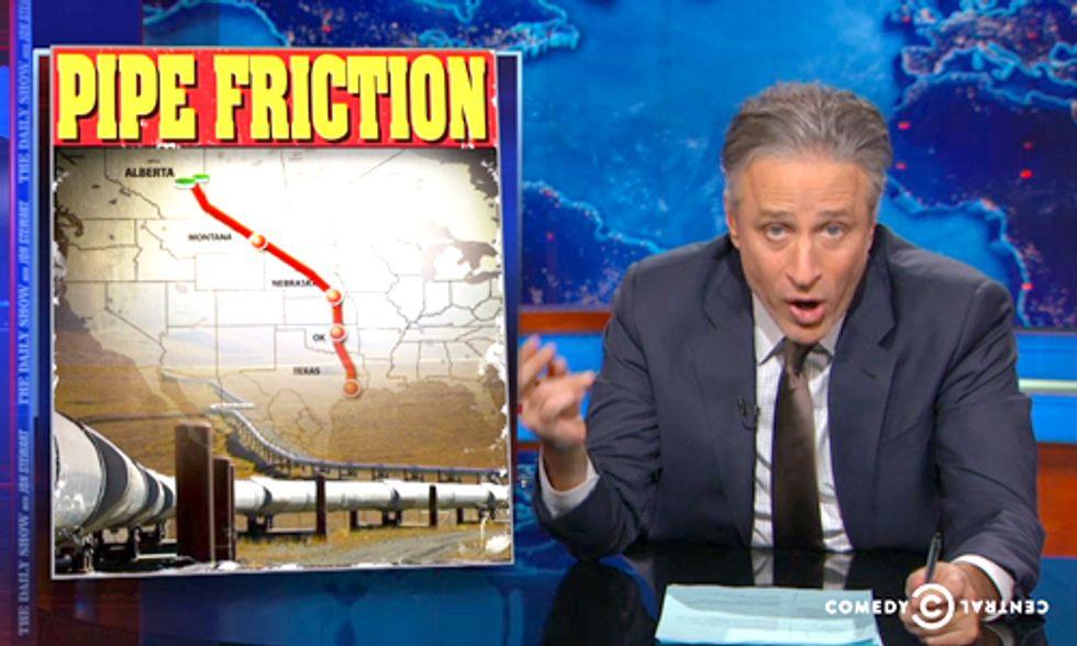 Jon Stewart Rips Sen. Landrieu for Hail Mary Attempt to Pass Keystone Pipeline