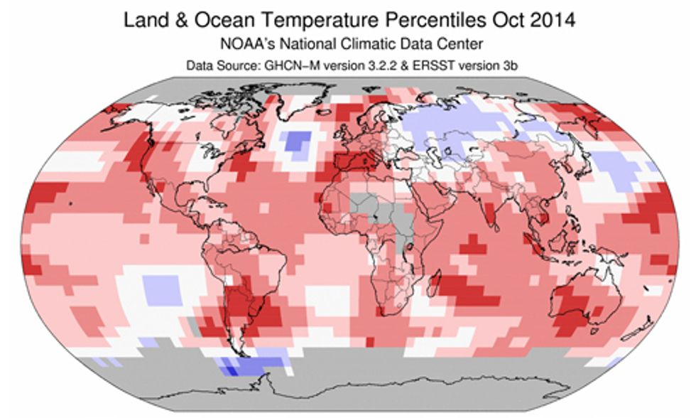 Hottest October on Record Puts Planet on Track for Hottest Year Ever