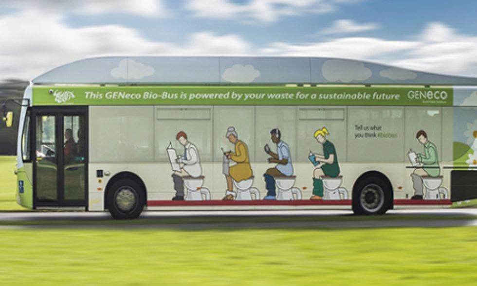 Revolutionary Poop-Powered Bus Hits UK Roads