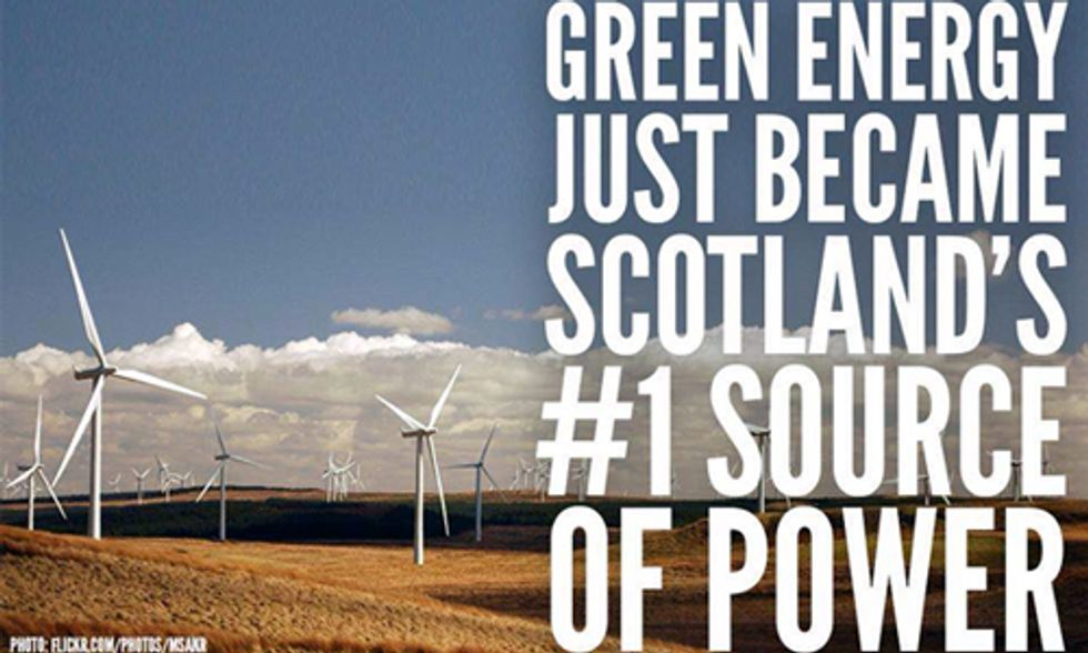 Renewable Energy Becomes Scotland's Main Source of Electricity