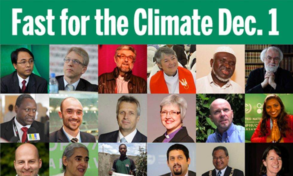 Pledge to Fast for Climate Action Dec. 1