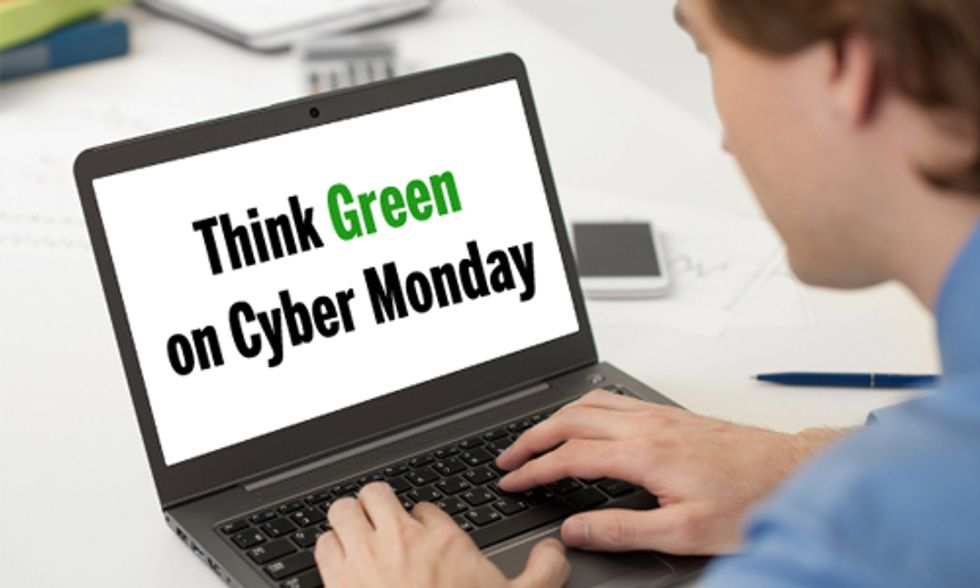 Think Green on Cyber Monday