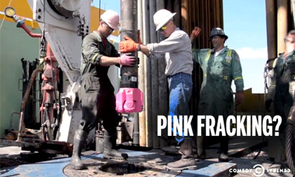 Stupidity of Pink Fracking Fully Exposed on The Daily Show
