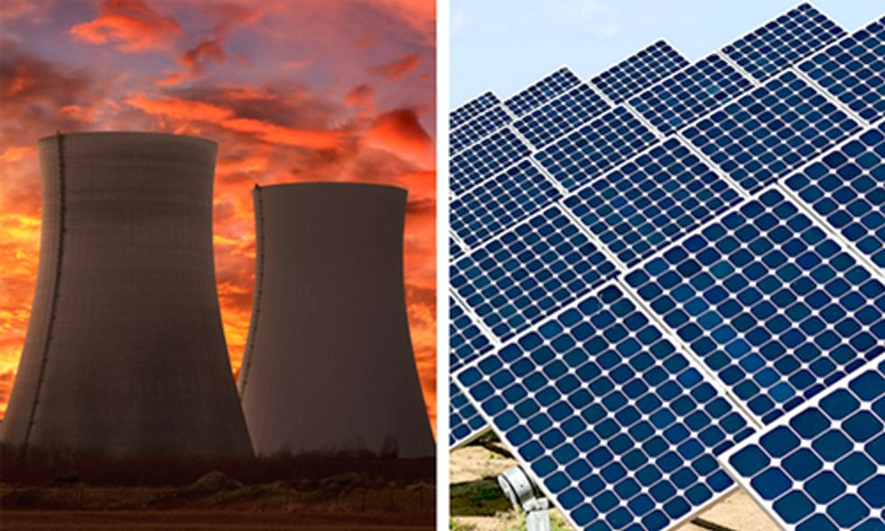 Nukes Fade As Wind and Solar Soar