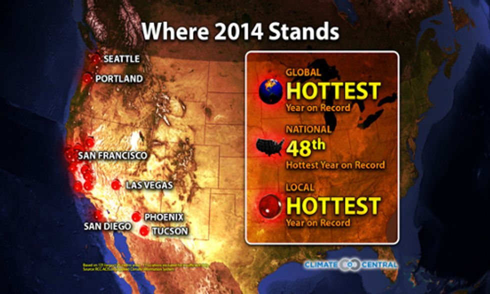 17 U.S. Cities Headed for Warmest Year Ever