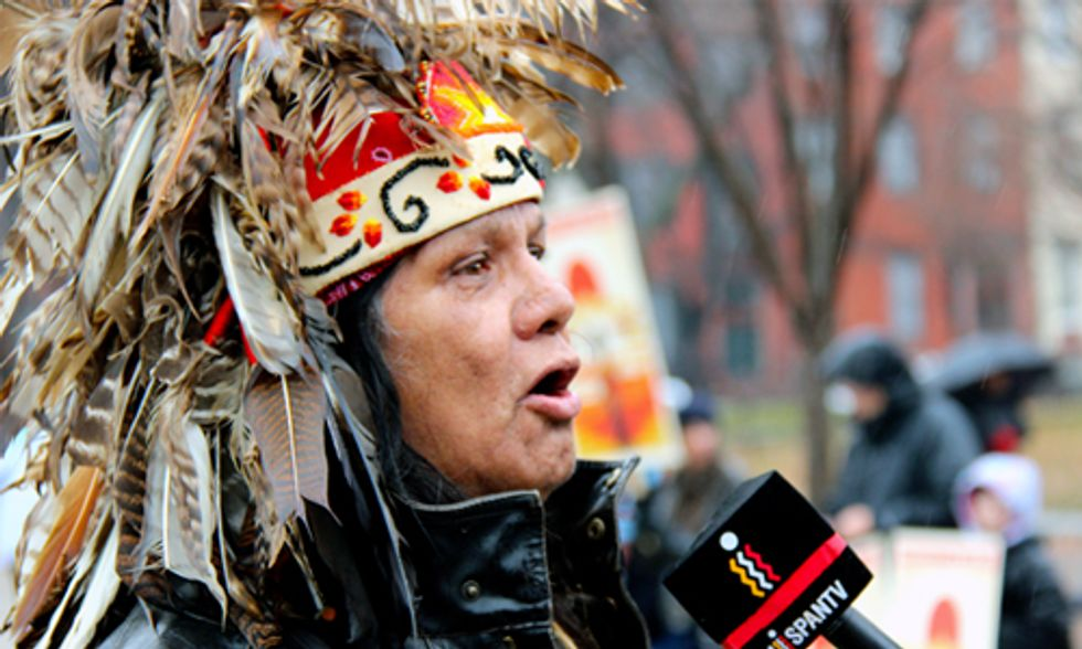 Native Voices Say No to Keystone XL Pipeline at DC Rally