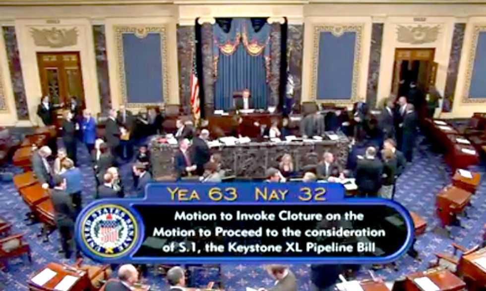 Senate Votes to Proceed on Keystone XL Pipeline Bill