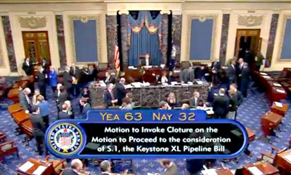 Senate Votes to Proceed on Keystone XL Pipeline Bill