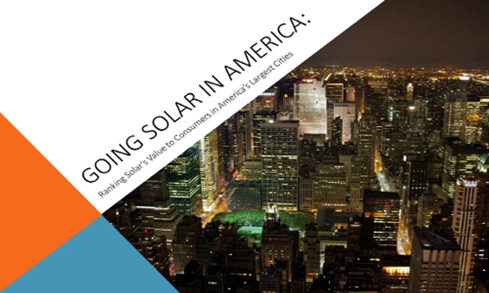 Solar Is Cheaper Than Electricity From the Grid in 42 of 50 Largest U.S. Cities