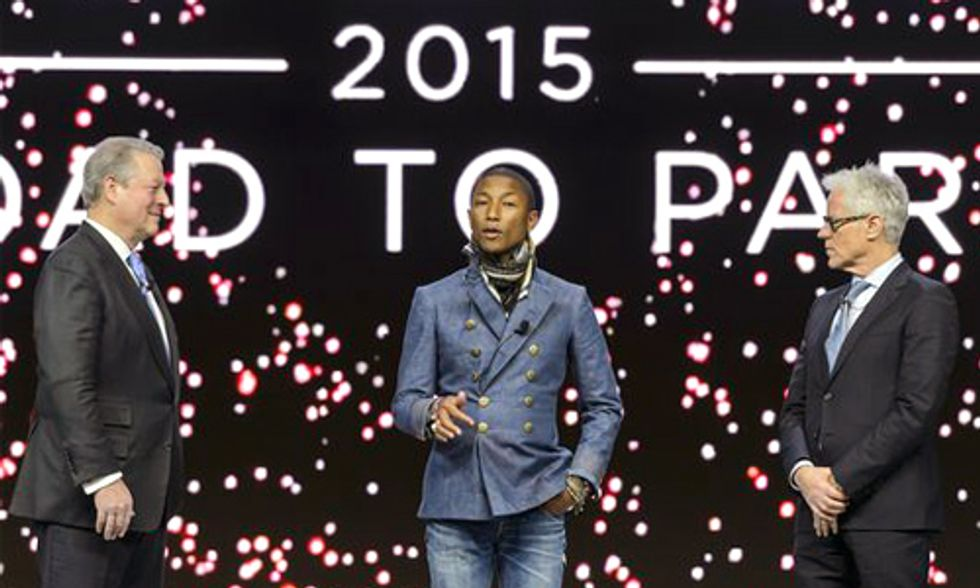 Pharrell and Al Gore Announce 'Live Earth Road to Paris'