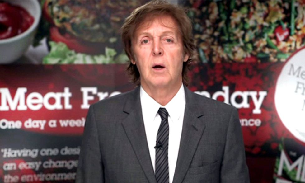 Paul McCartney, Mario Batali Urge NYC to Adopt 'Meatless Monday' Resolution