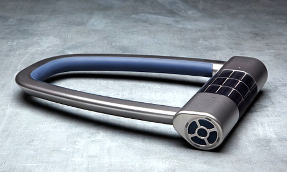 World's First Solar-Powered Lock Protects You and Your Bike
