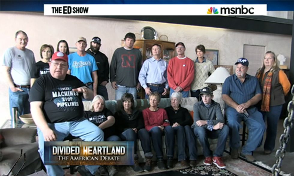Pipeline Posse Tells Ed Schultz: 'It's Not About the Money, It's About the Future Generations'