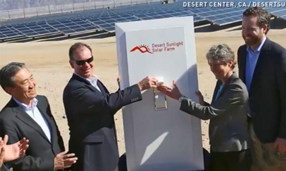 Nation's Largest Solar Farm on Public Lands Now Online
