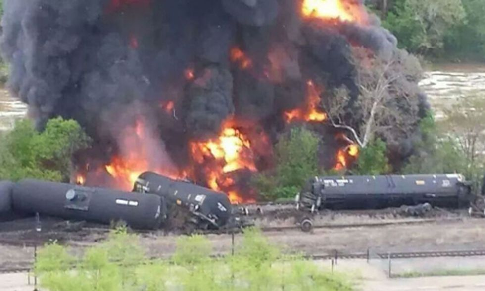Two More 'Bomb Train' Explosions Should Be 'Wake-Up Call to Politicians to Stop These Dangerous Oil Trains'