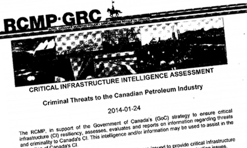 Leaked Document Shows Mounties View Anti-Oil Activists as Security Threat