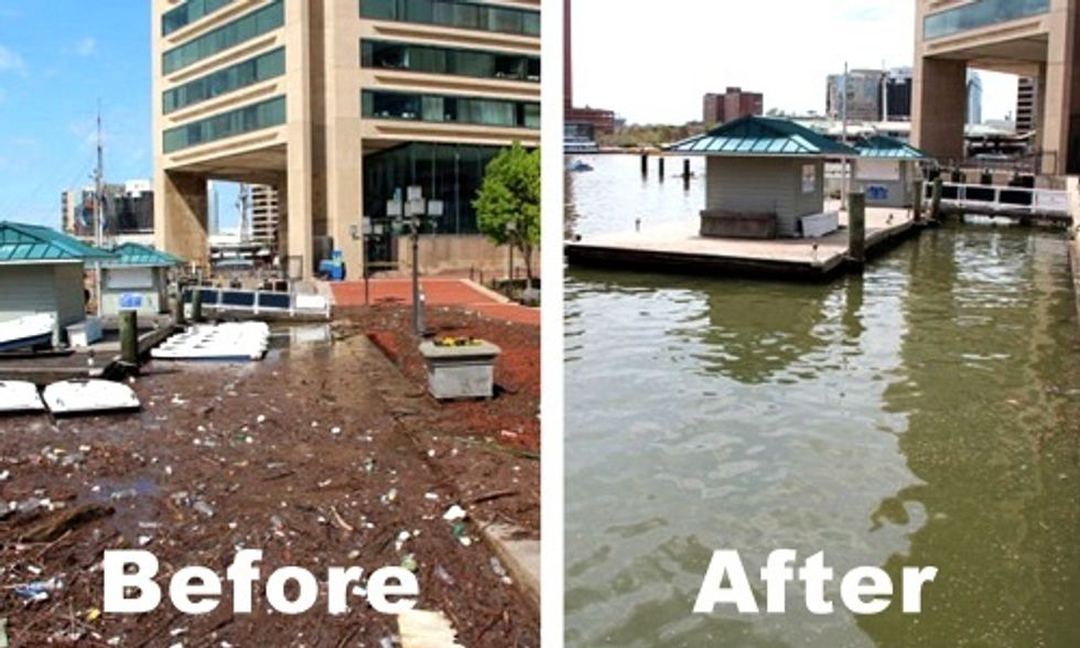 Solar-Powered Water Wheel Removes 350 Tons of Trash From Baltimore Harbor