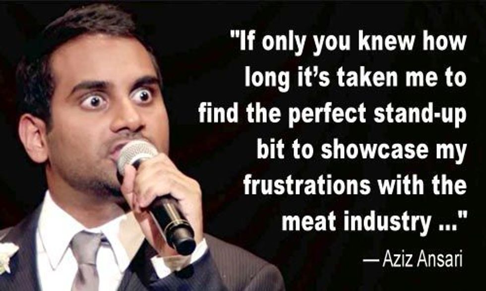 Aziz Ansari Blasts Factory Farming for Cruelty to Chickens