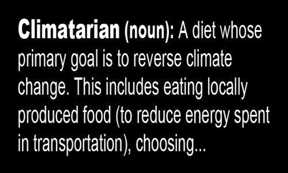 'Climatarian' Makes New York Times List of Top New Food Words for 2015
