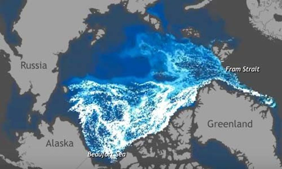 Watch 25 Years of Arctic Sea Ice Melt in One Minute