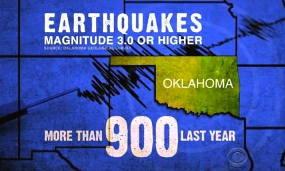 12 Earthquakes Hit Frack-Happy Oklahoma in Less Than a Week