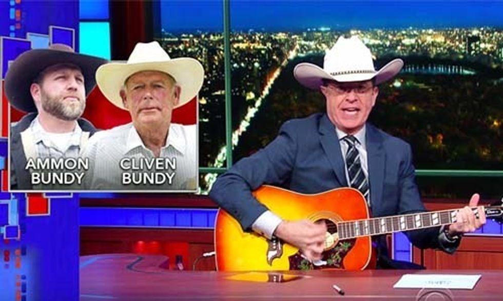 Colbert's Takedown of the Oregon Militia Men