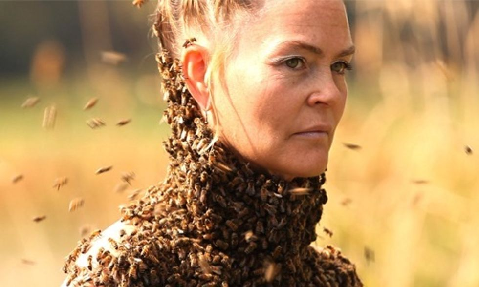 This Woman Wears 15,000 Bees to Help Others Connect to Nature