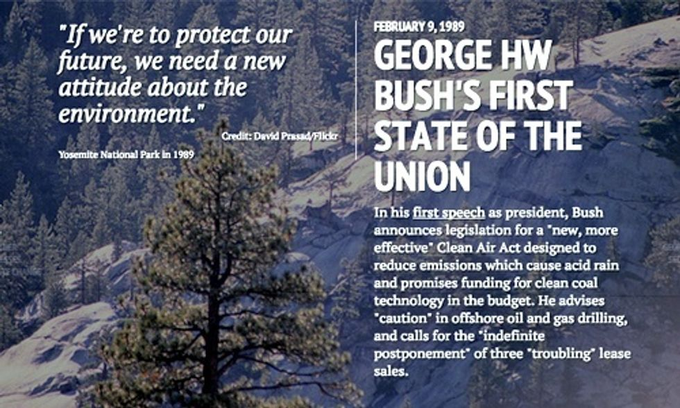 Fascinating Timeline: 30 Years of History of Climate and Energy in State of the Union Speeches