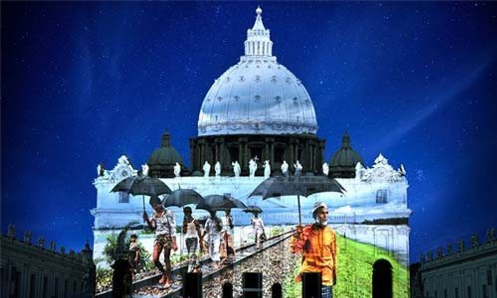 Breathtaking Images Illuminate Pope Francis' Climate Message on the Vatican