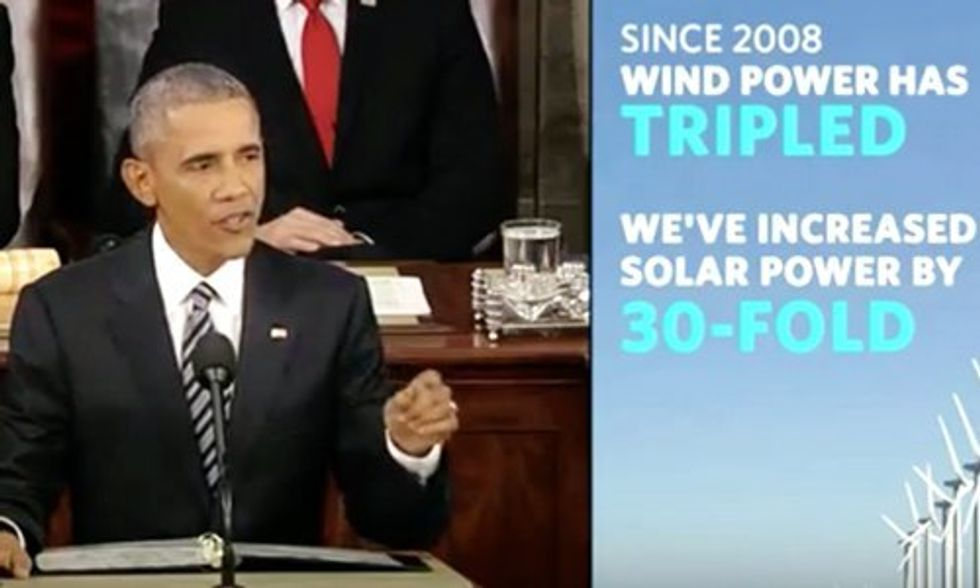 Obama to Climate Deniers in SOTU: Go Ahead 'Dispute the Science', But 'You'll Be Pretty Lonely'
