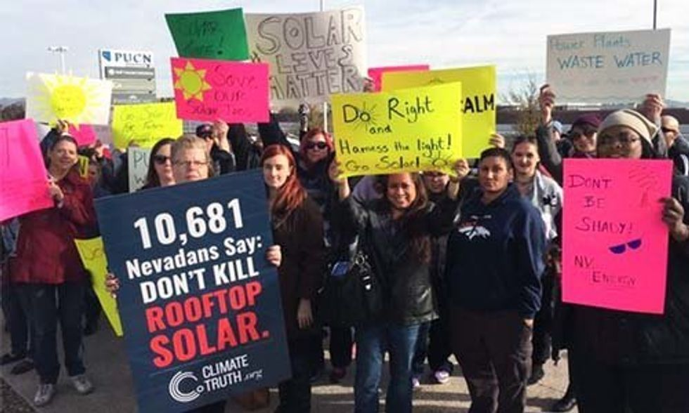 Solar Energy Fight Heats Up in Nevada