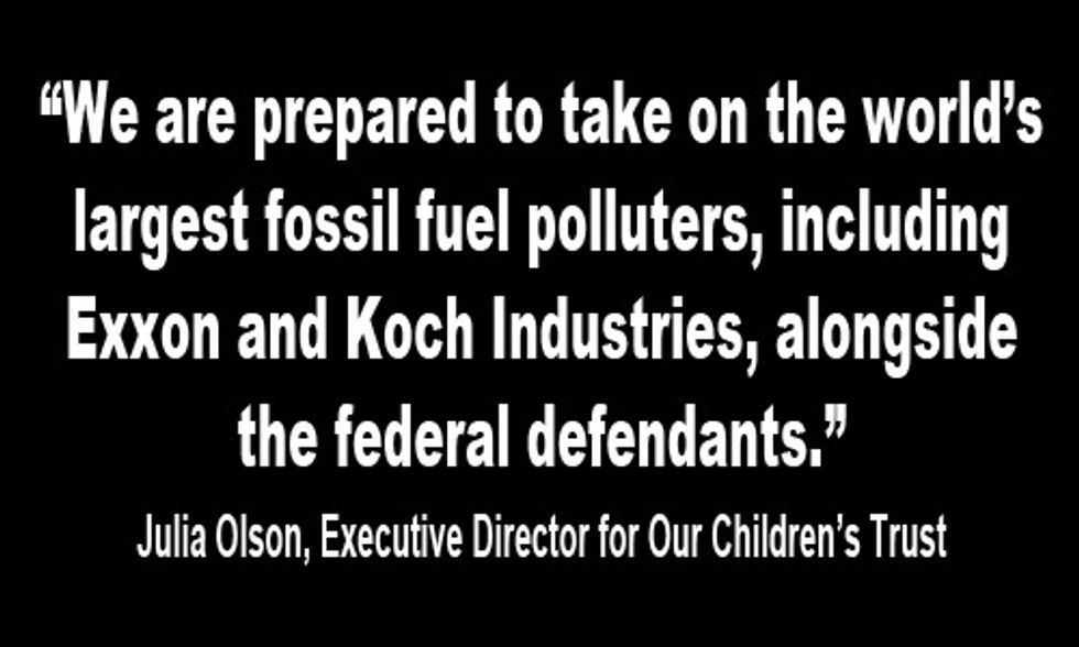 Fossil Fuel Industry Granted Defendant Status in Youths' Landmark Climate Lawsuit