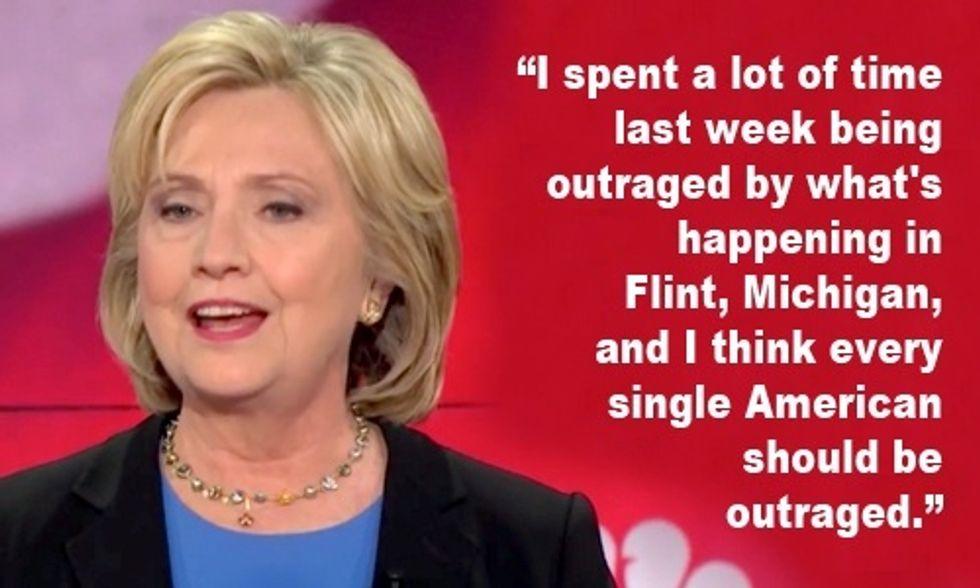 Hillary Clinton Demands Action on Flint Water Crisis at #DemDebate