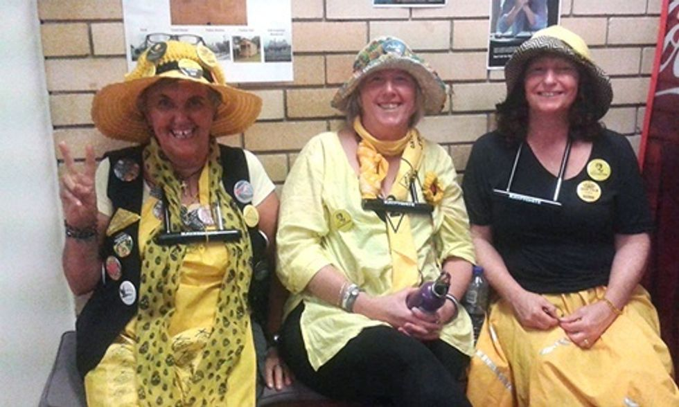 3 'Knitting Nannas' Arrested Protesting 850 Proposed Gas Wells