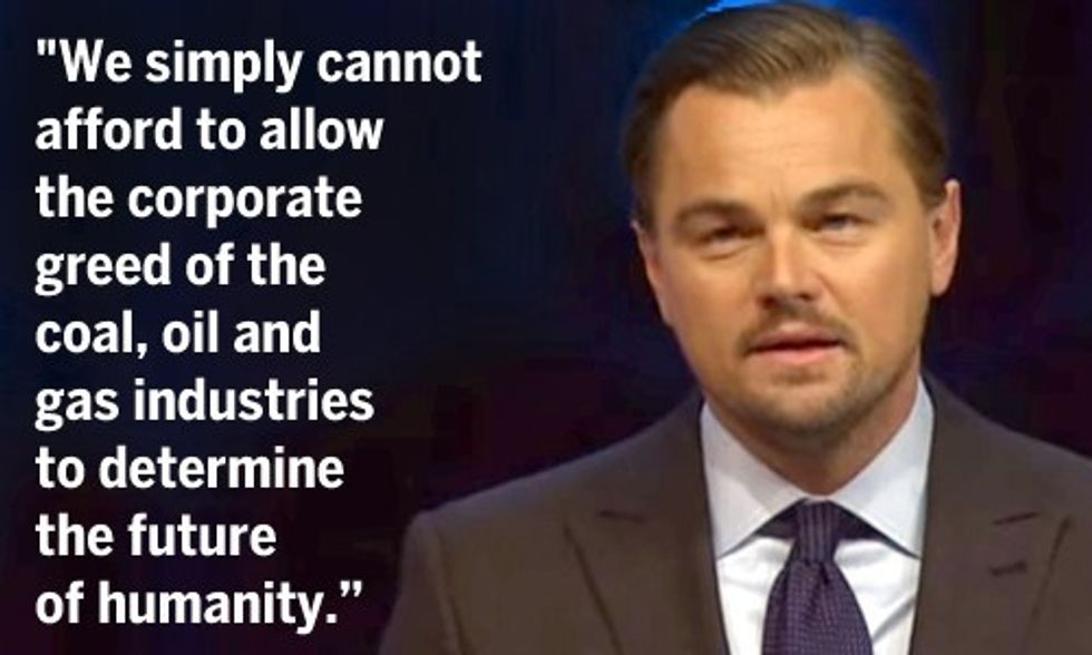 Leonardo DiCaprio: 'Enough Is Enough' Corporate Greed Must Stop