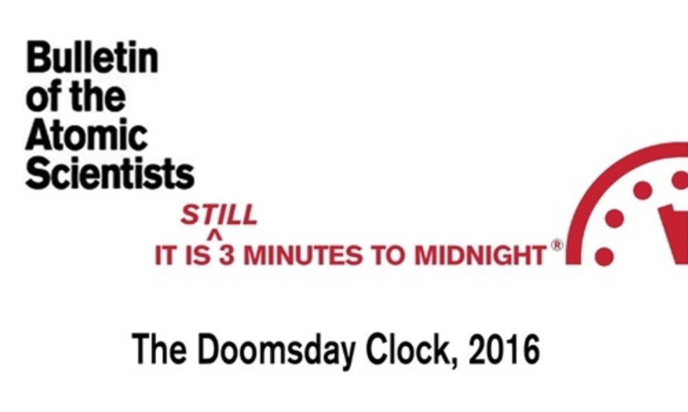 Doomsday Clock Stays at Three Minutes to Midnight: At the 'Brink' of Man-Made Apocalypse