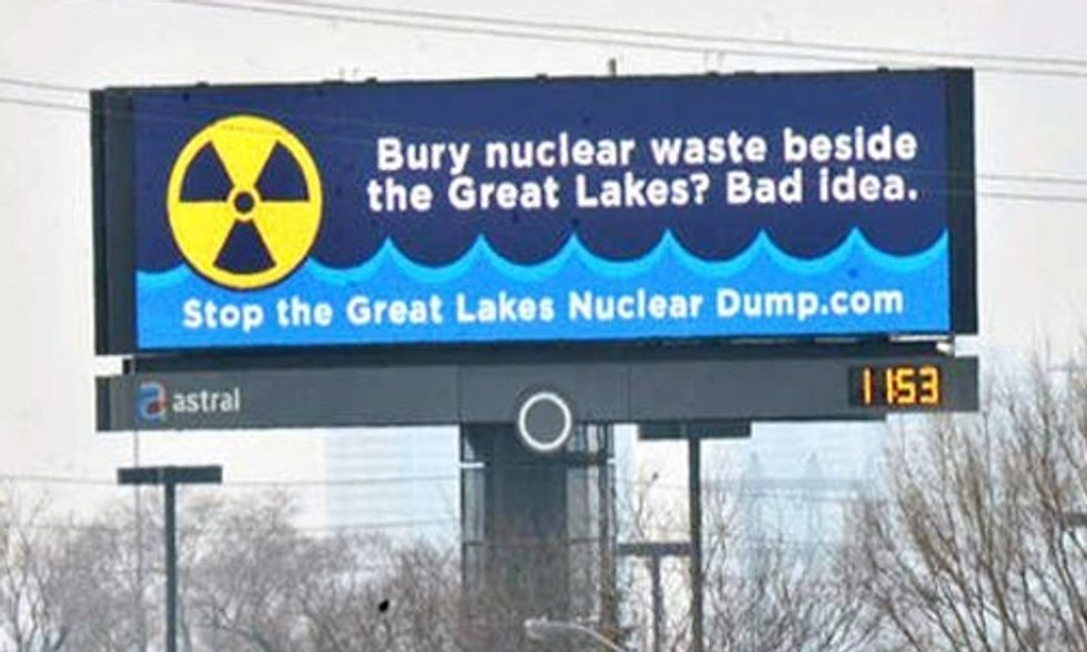 The Great Lakes and a High-Level Radioactive Nuke Waste Dump Don't Mix