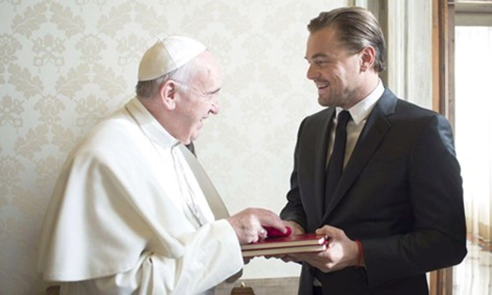 Leonardo DiCaprio Meets With Pope Francis to Discuss Need for Immediate Action on Climate Change