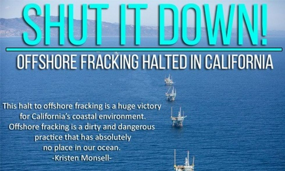 Huge Victory for Environmentalists: Offshore Fracking Moratorium Now in Effect Off California's Coast