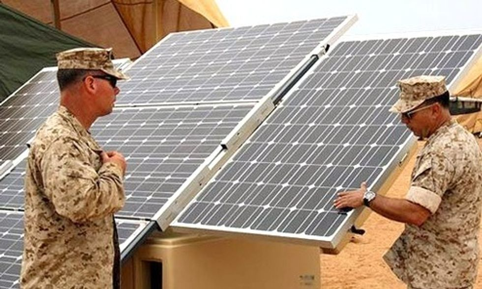 NATO: Renewable Energy Can Save Soldiers' Lives