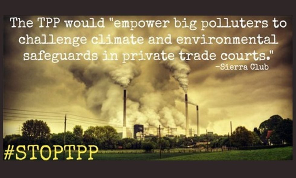 Signing Polluter-Friendly TPP Trade Deal Is Gambling Away Our Future