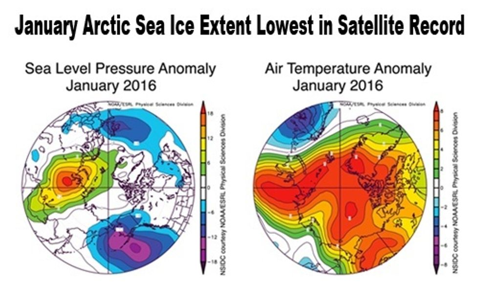 Arctic Sea Ice Levels Hit Record Low After Unusually Warm January