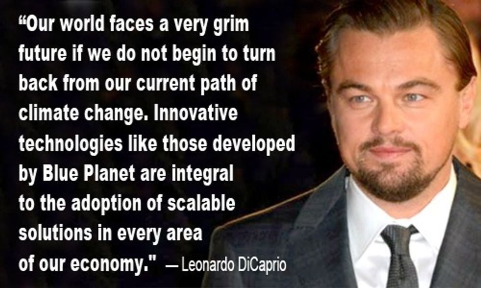 Leonardo DiCaprio Joins Carbon Capture Technology Company to 'Bring About a More Sustainable Future for Our Planet'
