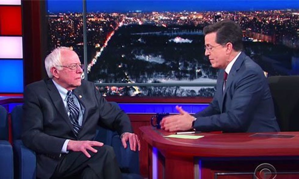Bernie Sanders to Stephen Colbert: Here's Why Young People Love Me
