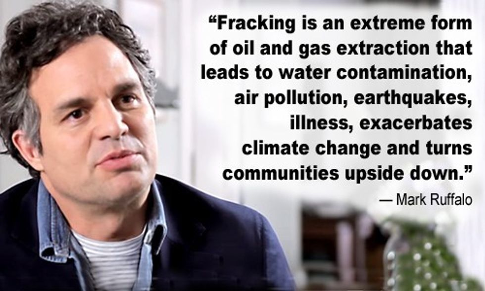 Mark Ruffalo: There's No Fracking That Can Be Done Safely