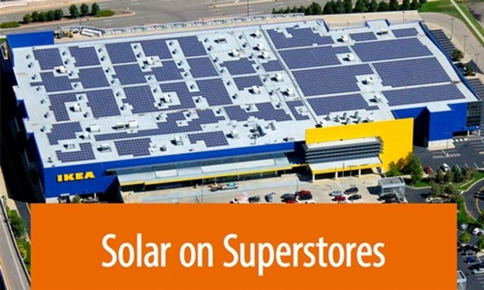 Roofs of Big Box Stores Key to Shifting America to a 100% Renewable Energy Future